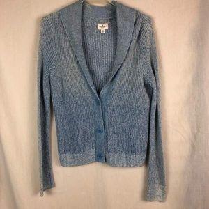 American Eagle Blue Button Long Sleeve Cardigan